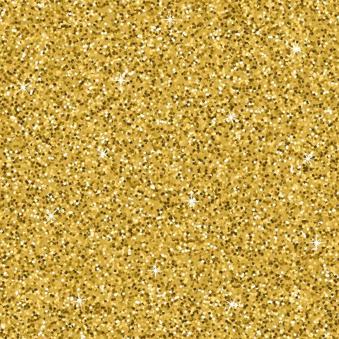 Seamless yellow gold glitter texture. Shimmer background. vector