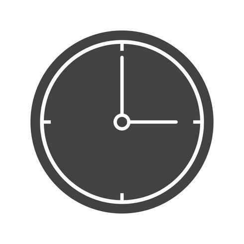 Clock Glyph Black Icon