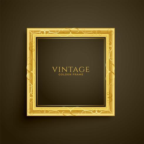 Golden Vintage Luxury Frame Design