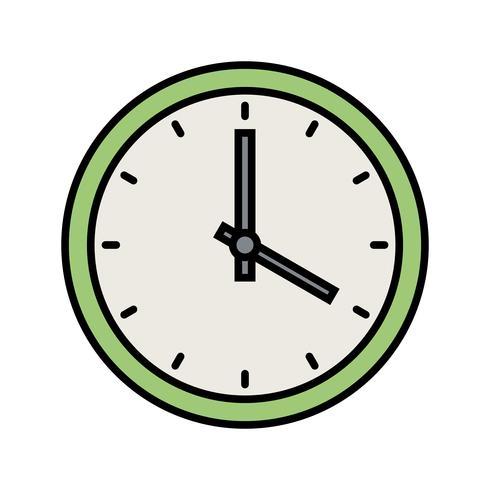 kloklijn gevulde pictogram