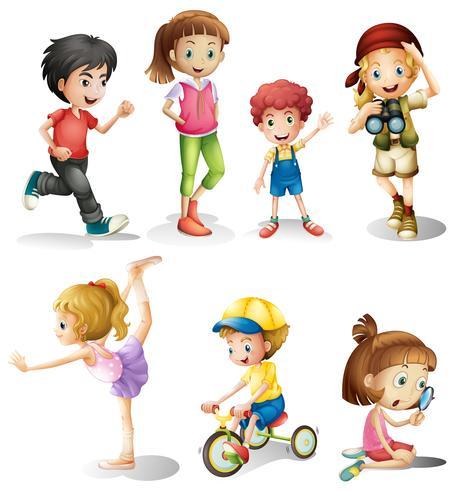 Crianças em muitas ações