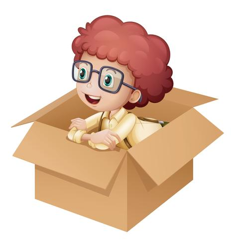 Una niña en una caja