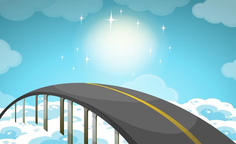 Straße über den Himmel