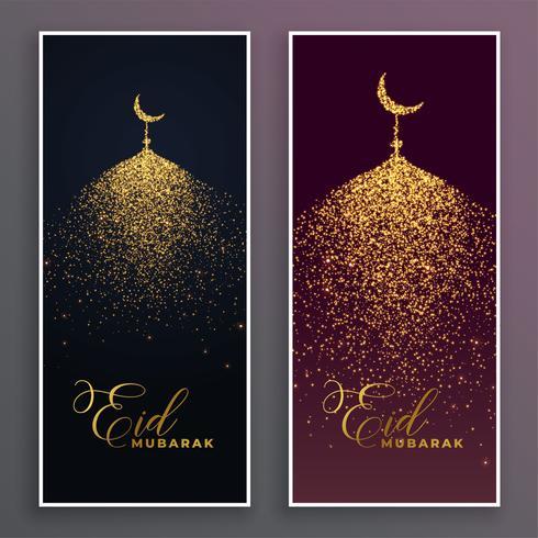 hermosa mezquita hecha con chispa brillo bandera