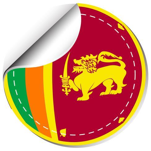 Stickerontwerp voor de vlag van Sri Lanka
