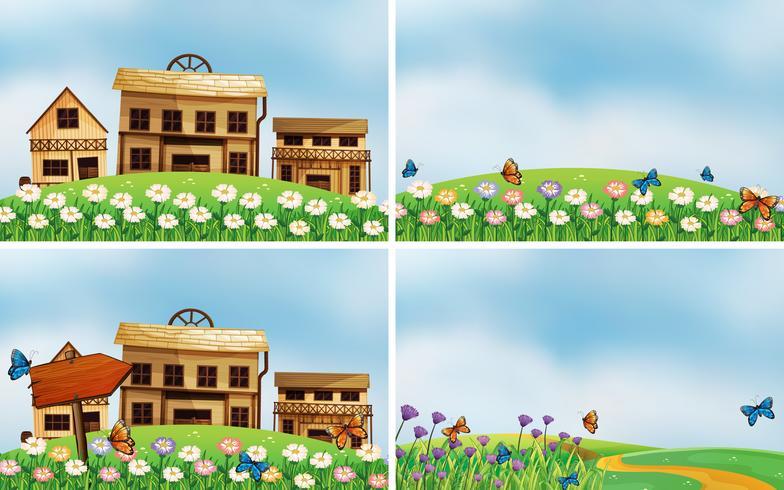 Häuser und Natur