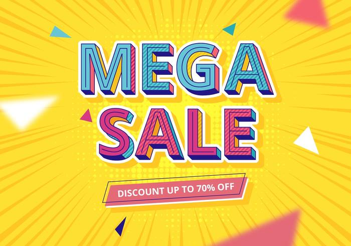 Sale Typography  vector
