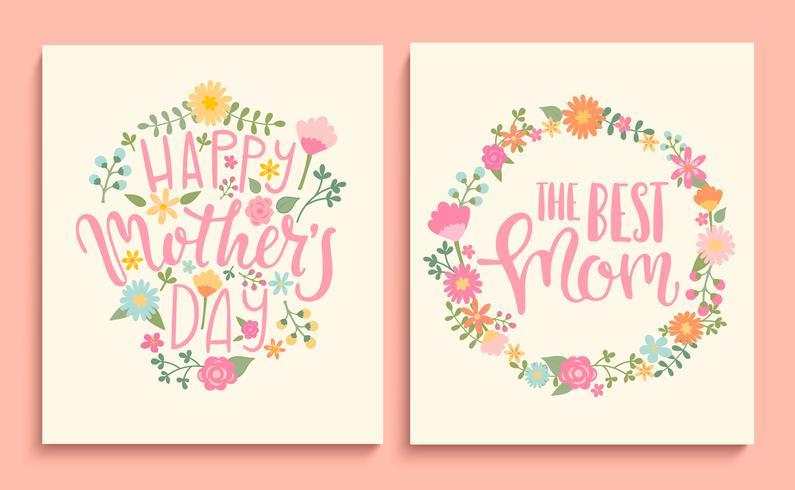 Set glückliche Karten der Mutter Tages.