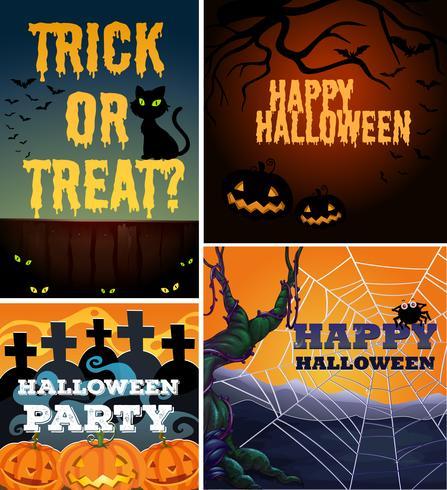 Affischdesign med halloween tema
