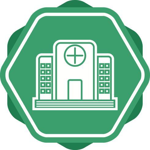 Icona del glifo dell'ospedale Multi colore sfondo