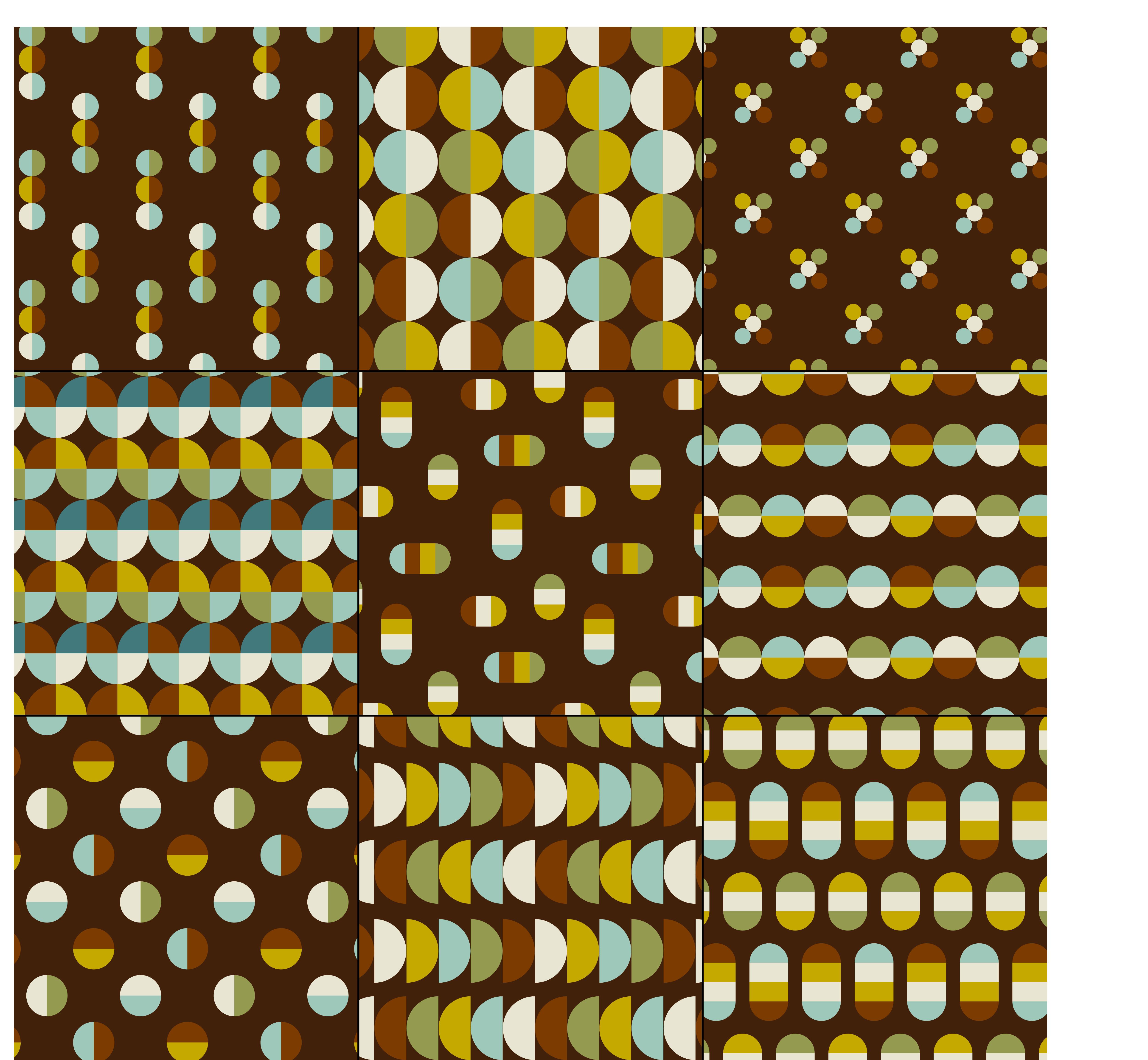 Mid Century Modern Geometric Patterns Vector Download