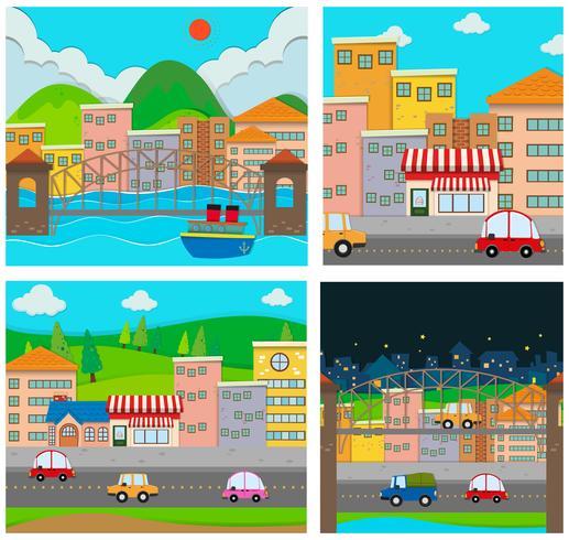 Quatre scènes de la ville