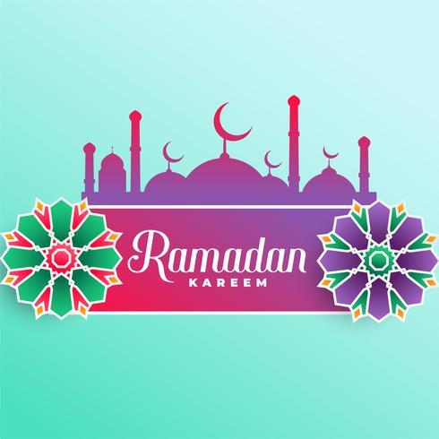 Fondo de festival musulmán Ramadán Kareem