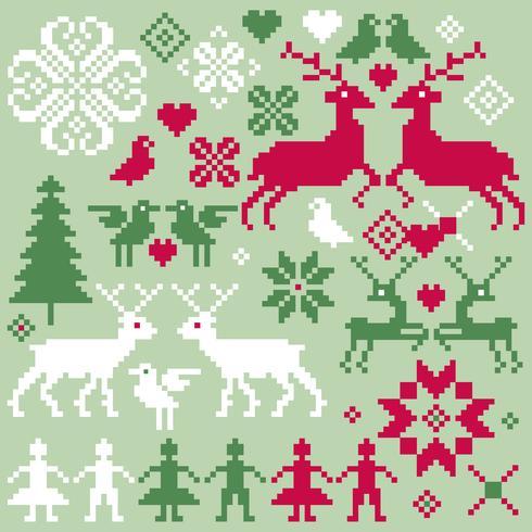 nordic vector winter motifs