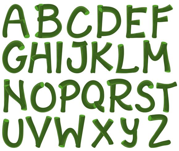 Alfabeto verde