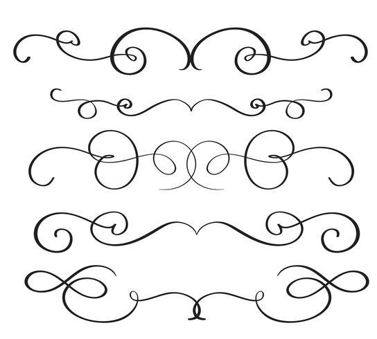 de kunstkalligrafie bloeit van vintage decoratieve whorls voor ontwerp. Vector illustratie EPS10