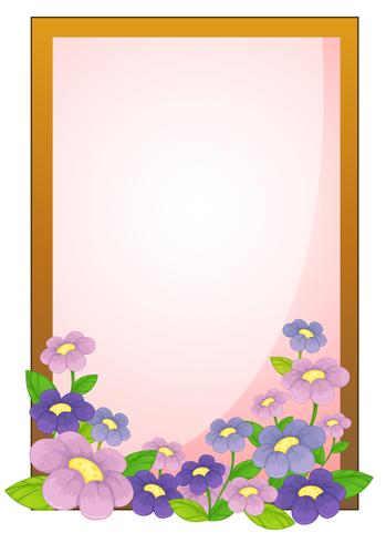 An empty frame with flowers