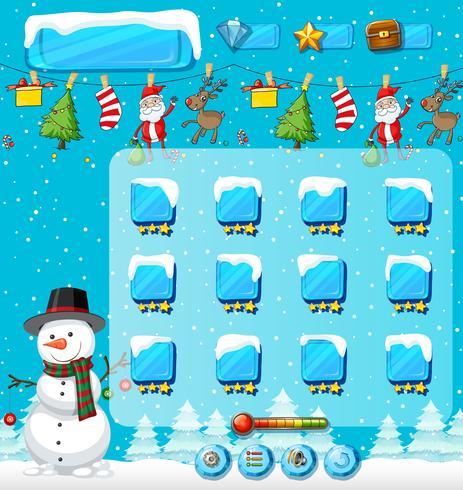 Winter kerst spel sjabloon