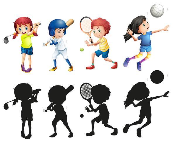 Ragazzi e ragazze che fanno sport