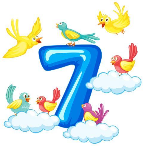Sette uccelli sul numero
