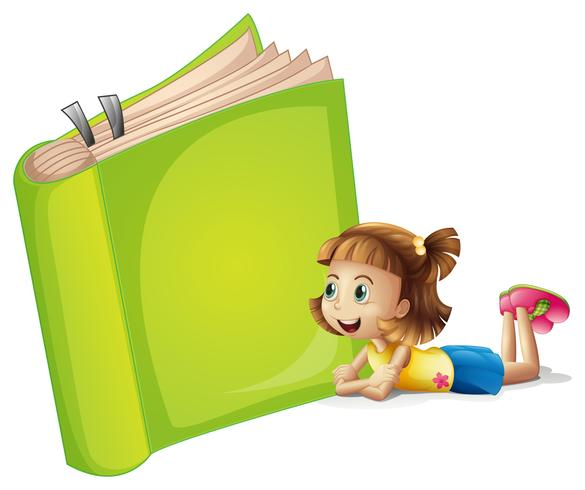 A girl and a book