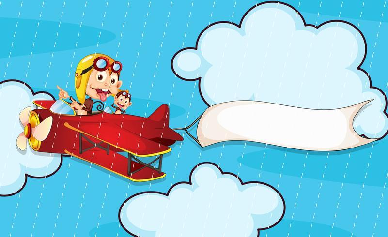 mono en avión