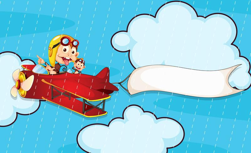 Affe im Flugzeug
