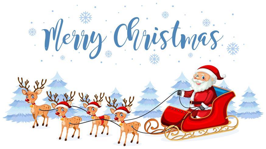 Santa Claus Merry Christmas-sjabloon