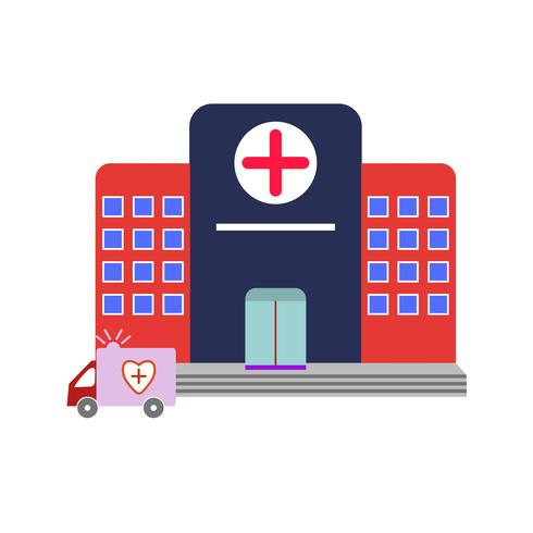 Ziekenhuis plat Multi kleur pictogram