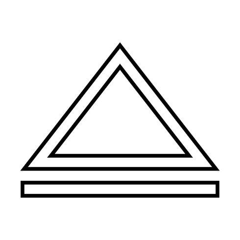 Pijl-omhoog-lijn zwart pictogram