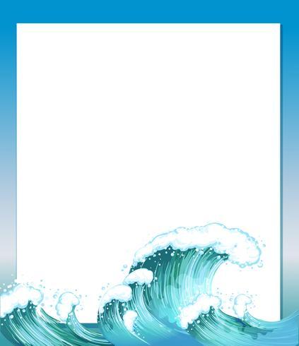 Um modelo de papel vazio com ondas na parte inferior