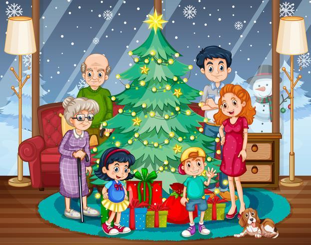 Familientreffen an Weihnachten