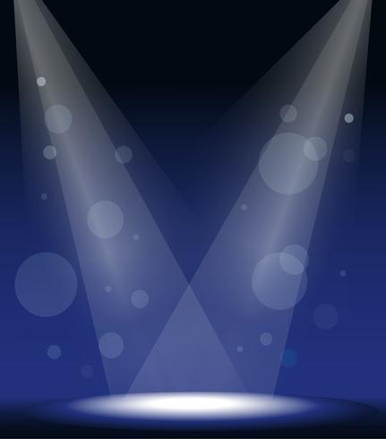 spotlichten op het podium