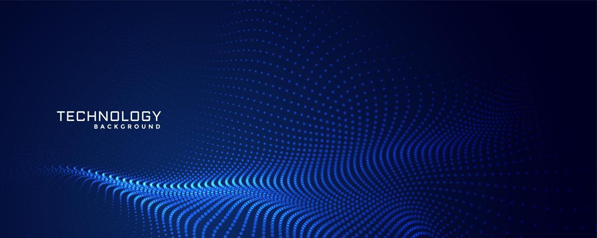 conception de fond de particules de technologie