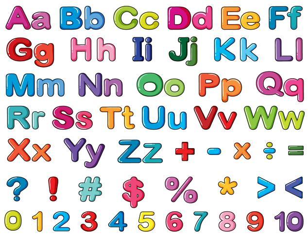 Alfabetos y numeros