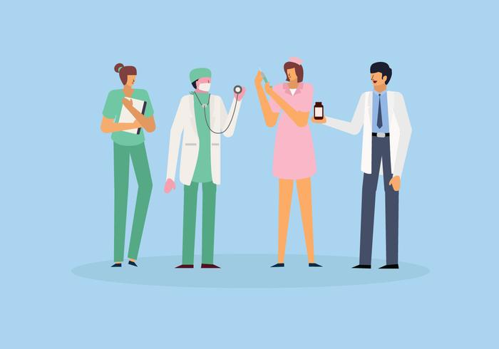 Healthcare Character Flat vector Illustration
