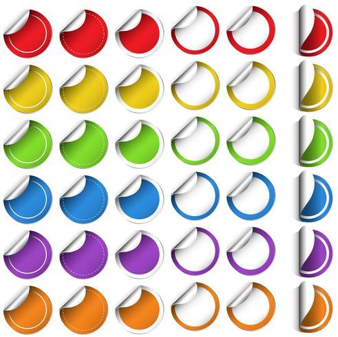 Aufkleberdesign in runder Form