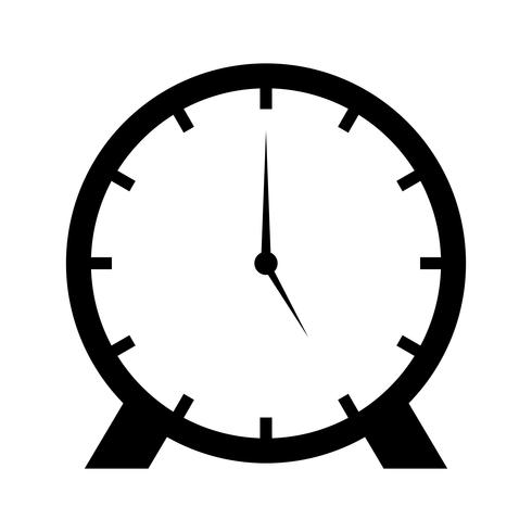 Uhr Glyphe Schwarze Ikone