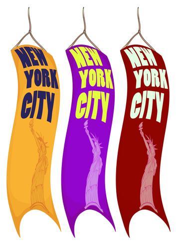 Bannerontwerp voor de stad van New York