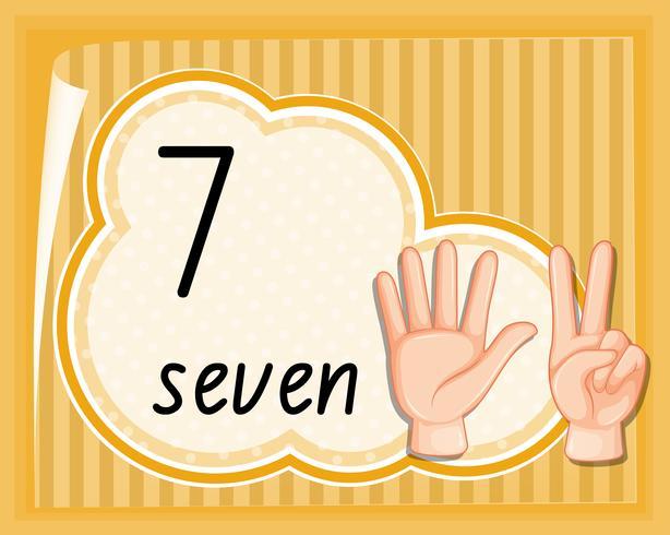 Modello di gesto della mano numero sette