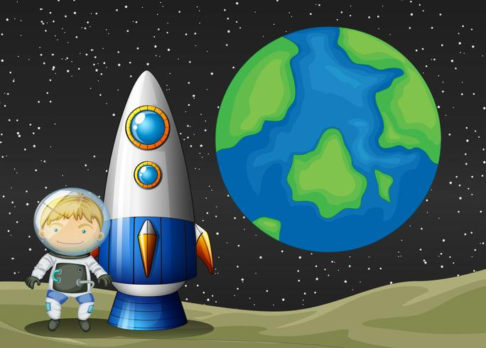 Espacio y astronauta.
