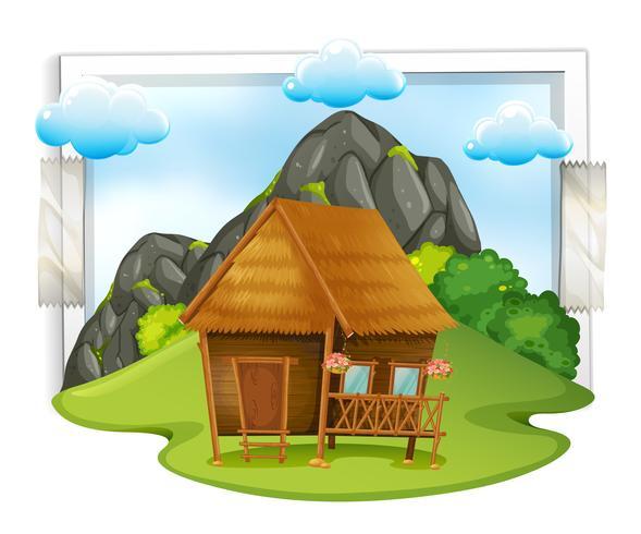 Cabina di legno nel campo