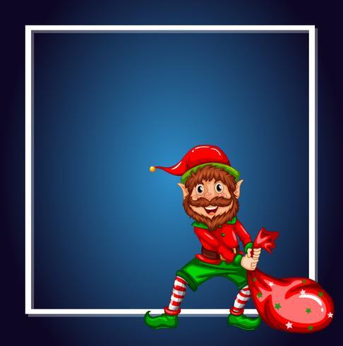 Una plantilla elfa de navidad