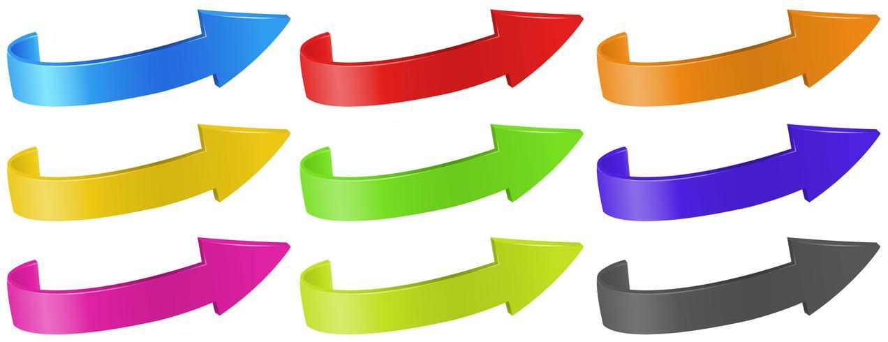 Pijlen in verschillende kleuren