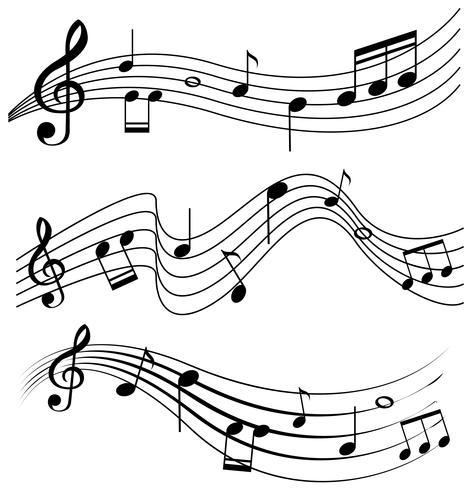 Naadloos ontwerp met muzieknota's