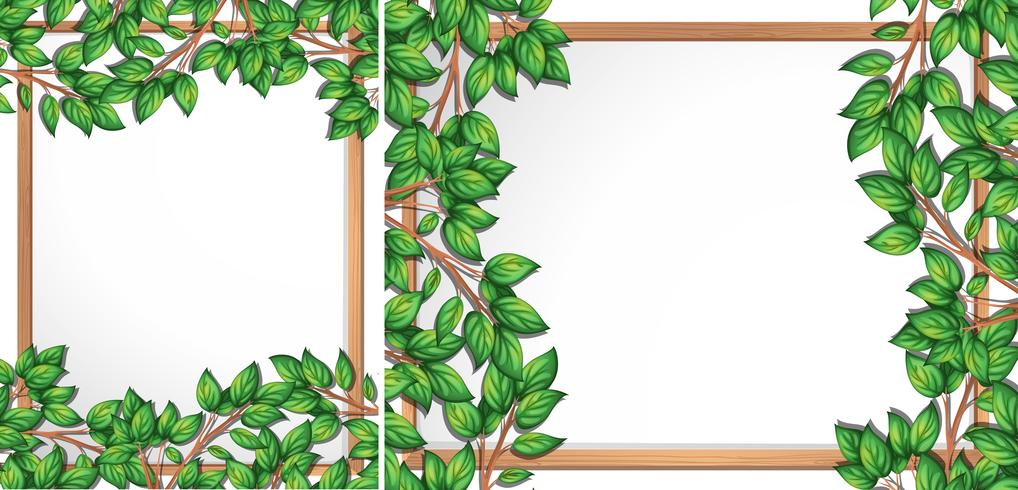 Cornice del ramo di albero in legno