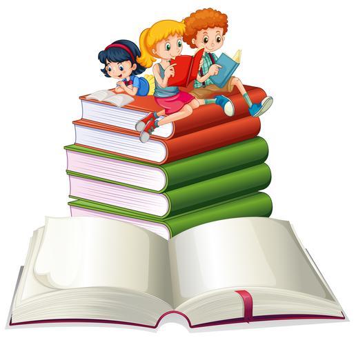 Menino meninas, leitura, livros