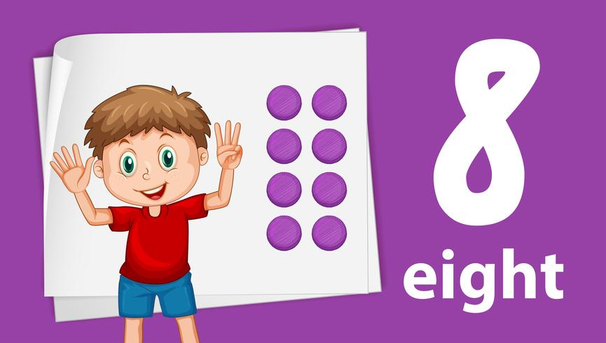 Boy on number eight template