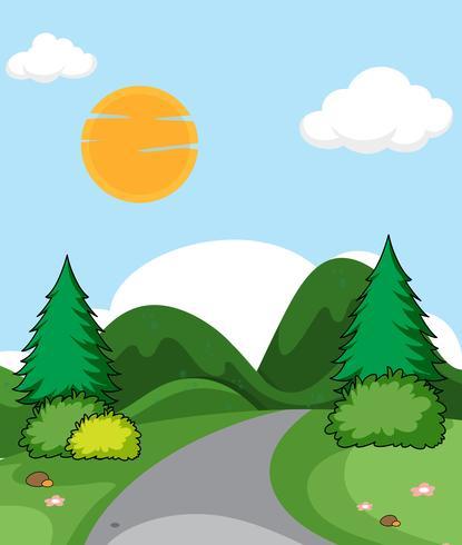 Un paesaggio naturale pianeggiante
