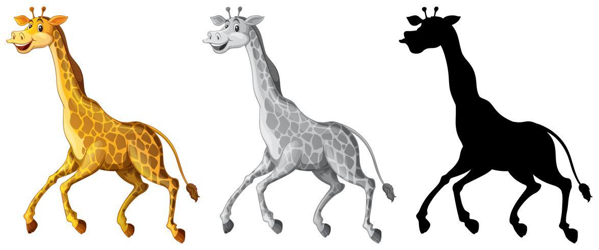 Set av giraff karaktär